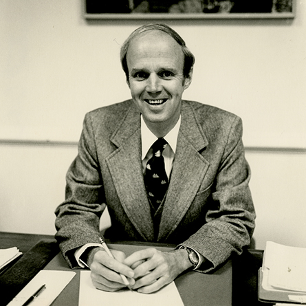 An archival photo of President Emeritus of Connecticut College Oakes Ames, courtesy of The Linda Lear Center for Special Collections & Archives.