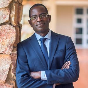 A portrait of Ashesi University College President Patrick Awuah