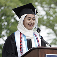 Issraa Faiz '19 addresses the Class of 2019