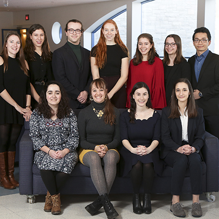 A group portrait of all of the 2019 Winthrop Scholars
