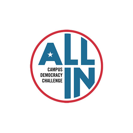 The logo for the All In Campus Challenge