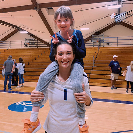 Making an IMPACT: Volleyball's Bridget Fatse '22 helps teams bring joy to seriously and chronically ill children