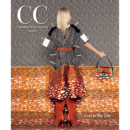 The cover of the Winter 2019 issue of CC magazine, which depicts artwork by Rachel Perry '84.
