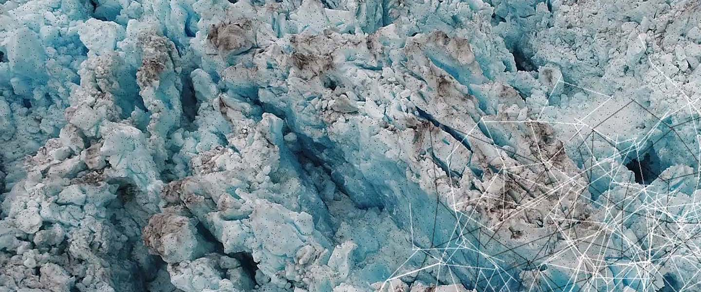Arctic drone footage art