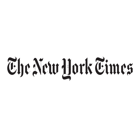 The logo for the New York Times