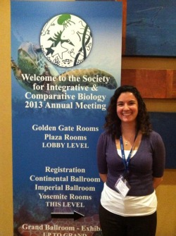 Catherine Alves '13 traveled with a team of scientists to present at a professional research conference.