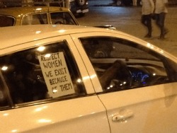 Professor Sunil Bhatia took this picture at a stoplight in Delhi in the days after the rape of a woman on a public bus there in December.