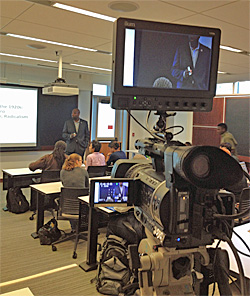 "A C-SPAN camera crew visited Professor David Canton's classroom Oct. 8 to film his lecture, ""African Americans in the 1920s,""  for the American History TV program."