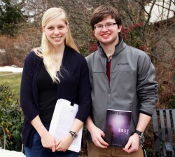 Natalie Calhoun '16 and Cory Scarola '16 have each written novels.