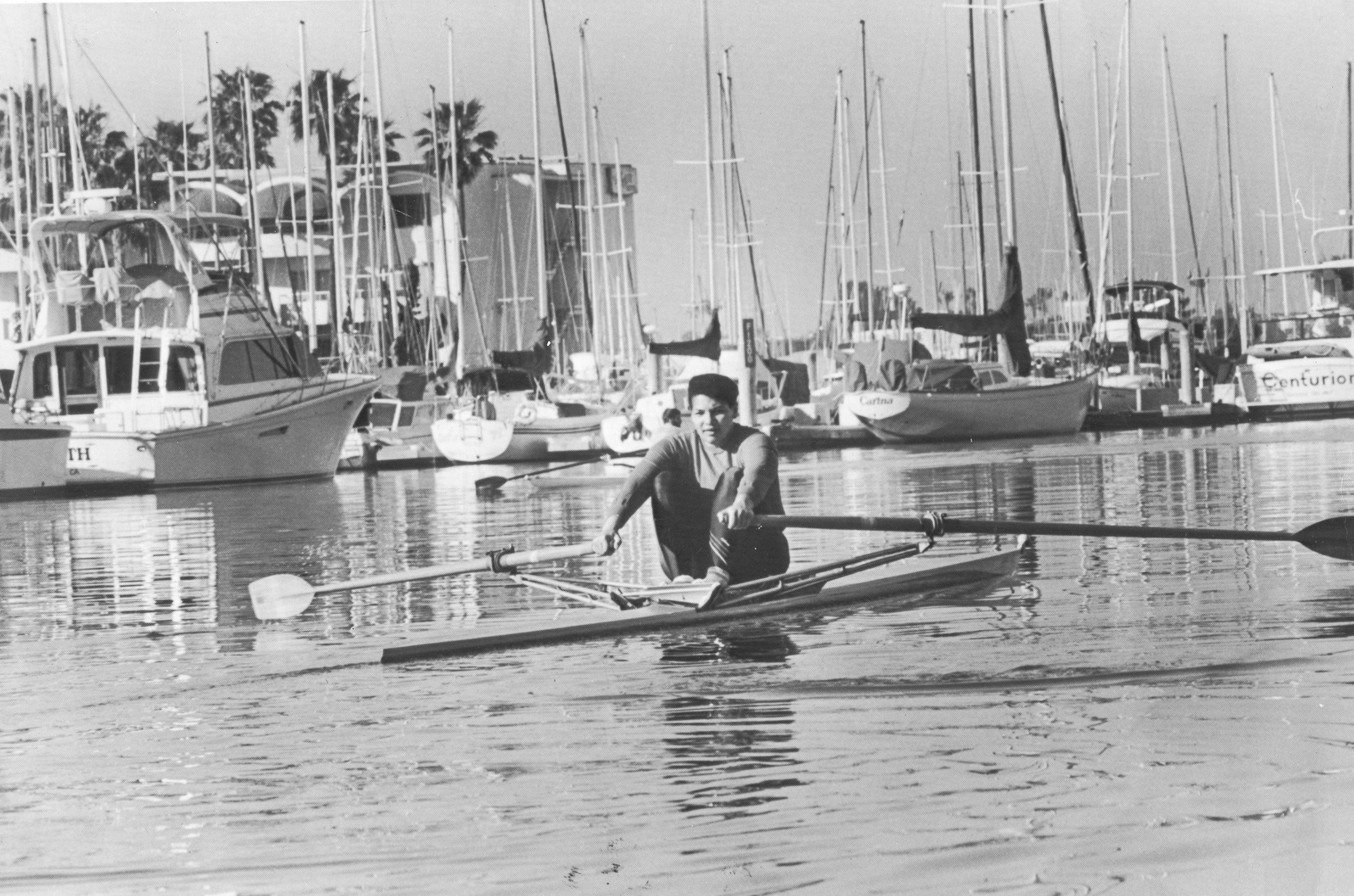 Anitz DeFrantz '74, seen here during her time at Connecticut College, won a bronze medal in women's rowing at the 1976 Summer Olympic Games in Montreal.