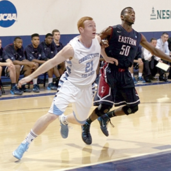 Pat Deegan '14, left, is one of 68 Connecticut College student-athletes named to the NESCAC Winter All-Academic Team.