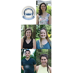 Connecticut College's 2014 Fulbright fellows are (from top): Jyoti Arvey (Russia), Ellen Heartlein (Germany), Maggie Nelson (Malaysia), Anthony Sis (Portugal) and Blair Southworth (Indonesia). All are members of the Class of 2014.