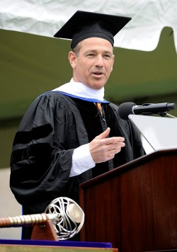 Emmy-winning writer and producer Howard Gordon delivers the keynote address at Connecticut College's 95th Commencement on May 19.