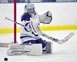 Goalie Kelsie Fralick '15 has been nominated for the 2104 BNY Mellon Wealth Management Hockey Humanitarian Award.