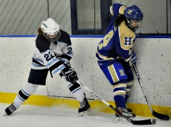 The women's hockey team will play Middlebury in the NESCAC semifinal game Saturday, March 2.