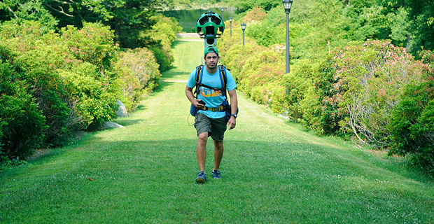 Google Street View Trekker maps the Connecticut College arboretum