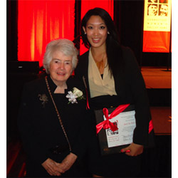 Patricia McGowan Wald '48, seen here with Janet Tso '12 at her induction into the Connecticut Women's Hall of Fame, became the first woman to serve on the U.S. Court of Appeals for the District of Columbia Circuit in 1979.