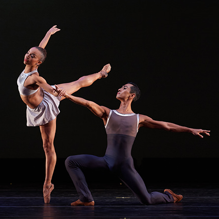 Dance Theater of Harlem: Artists Stephanie Rae Williams and Choong Hoon Lee in Return. Photo by Rachel Neville.