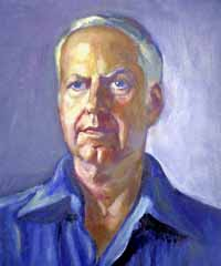 Oil portrait of William Meredith by Dora Boneva, 1981
