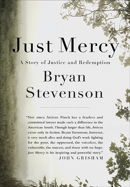 "The cover of ""Just Mercy: A Story of Justice and Redemption"""