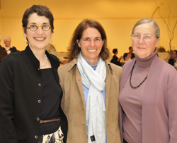 Professors Abigail Van Slyck (left), Catherine Stock (center) and Joan Chrisler have been honored with the College's highest faculty awards.<br><br><br>