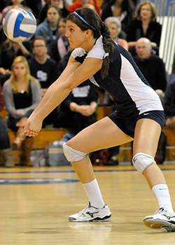 Rachel Schroff '13 was named the 2012 NESCAC Player of the Year for women's volleyball and made the 2012 Volleyball All-NESCAC First Team.