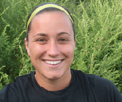 Olivia Gerde ´10 had an assist in the second half of the Camel´s 6-1 win Thursday.