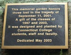 The 9/11 Garden located off Tempel Green.