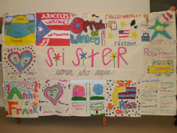 The S.I.S.T.E.R. participants used their research of role models to create a quilt, which will be on display at the film festival.
