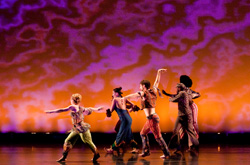 "onStage at Connecticut College presents David Dorfman Dance's ""Prophets of Funk - Dance to the Music,"" Friday, Feb. 4 at 8 p.m. in Palmer Auditorium."