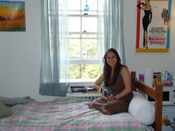 Devon Butler ´10 made her room her own with curtains, posters and colorful bedding. View the slideshow to see how other students personalize their rooms.