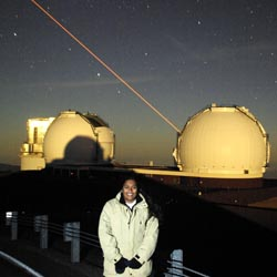 Christina Balkaran '12 completed a funded internship at the Keck Observatories in Hawaii.