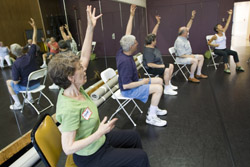 Stan Wertheimer, professor emeritus of mathematics and founder of the Connecticut Parkinson´s Work <br>Group, brought a free dance class for people with Parkinson's Disease to Connecticut College this <br>summer.