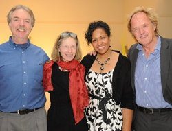 From left: Professors William Rose, Ann Devlin, Cherise Harris and Alex Hybel