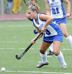 Abby Hine '11, a member of the 2009 All-New England Small College Athletic Conference (NESCAC) Field Hockey First Team