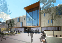 A Schwartz/ Silver Architects rendering of what the renovated Shain Library might look like.
