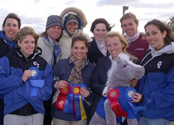 Members of the Connecticut College Equestrian Team pose with their ribbons after a show last year.