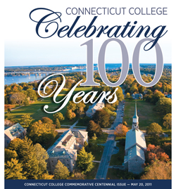 The cover of The Day's special 16-page Connecticut College Centennial commemorative issue.