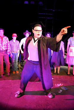 "The Departments of Theater and Music present ""Bat Boy: The Musical,"" March 1-4. Photo by Andrew Nathanson '13."