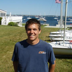 Michael Marshall '11, co-captain of the sailing team, completed a senior thesis analyzing the feasibility of wind power on campus.