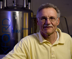 Chemistry Professor Bruce Branchini specializes in the study of firefly bioluminescence
