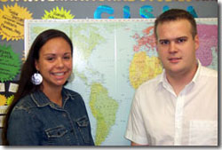 Both CISLA scholars, seniors Alexandra Fiorillo, left, and Gregory Smith received Fulbright Grants for research abroad