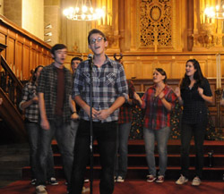 The annual all-group a cappella concert is a favorite Fall Weekend tradition.