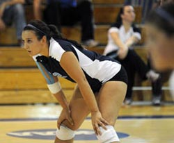 Amy Newman '12 has been named to the All-NESCAC Volleyball First Team for the third consecutive year.