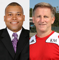 Brian Wilson, left, is the new women's basketball head coach and Kenny Murphy, right, will lead the men's soccer program.