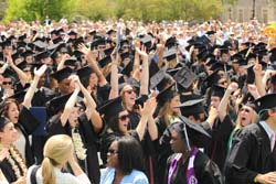 Connecticut College 2012 graduates celebrate