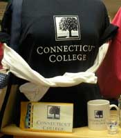 The Connecticut College Bookshop sells Camel clothing and collectibles and gift cards.