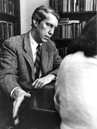 Black and white photo of Dirk t. D. Held, Emeritus Professor of Classics at Connecticut College