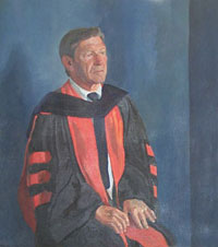Portrait of Charles E. Shain, President of Connecticut College, 1962-1974