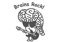 Brains Rock logo for neuroscience fair at Connecticut College